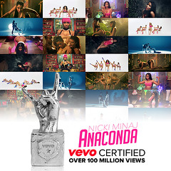 "News: ""Anaconda"" Officially Certified by VEVO With Over 100 Million Views (tshark182) Tags: news by with over anaconda views million 100 nicki certified officially vevo minaj"
