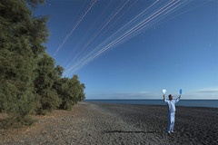 Asleep on the job (Alex Bamford) Tags: beach santorini greece moonlight pajamas pyjamas sleepwalking sleepwalk alexbamford pingpongbats alexbamfordcom
