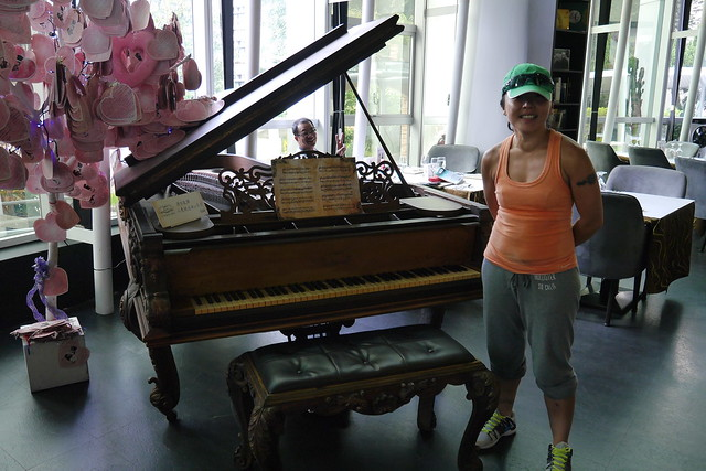 in front of the piano that is in the movie call  Secret  directed by Jay Chou