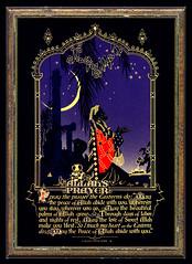 """Allah's Prayer"" 1927 Buzza Motto (crackdog) Tags: prayer motto east oriental middle orientalism allah easterners buzza"
