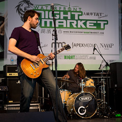 My band at T&T Nightmarket (Shawn Burgess) Tags: show summer music food festival rock les paul drums concert drum guitar outdoor live livemusic performance band amp stack marshall fender nightmarket sound drummer roll tt mic gibson audio guitarist vocal mapex fadechromatic