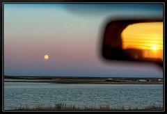 Opposites (savillent) Tags: sky moon northwest north harvest september full arctic lunar climate 8th territories 2014 tuktoyaktuk savillent