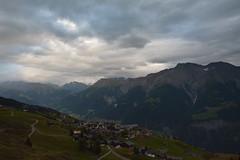 Vue de Riederalp. (Azariel01) Tags: trees mountain alps clouds forest montagne alpes schweiz switzerland village suisse glacier arbres nuages fort valais riederalp aletsch 2014 aletscharena