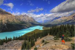Peyto Lake (Simon__X) Tags: blue red cloud mountain lake canada green water yellow sunrise landscape jasper canyon glacier alberta banff lakelouise emerald gem sapphire morainelake medicinelake
