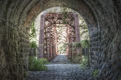 Tunnel&Bridge HDR (Nishizaka Takeo) Tags: bridge japan tunnel hdr 兵庫県 namaze 生瀬 武田尾 takedao nikond7000 luminancehdr トンネール