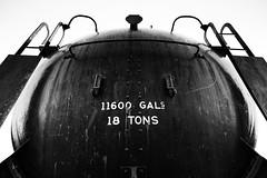 Fill 'er-up (DHaug) Tags: blackandwhite museum train tank noiretblanc ottawa steam fujifilm locomotive scienceandtechnology xt1 xf14mmf28r