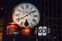Different kind of interior (Maria Eklind) Tags: city clock copenhagen denmark restaurant pub time interior date apropos halmtorvet inredning