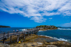 DSC00088 (Damir Govorcin Photography) Tags: sky clouds water landscape boardwalk pier people bare island la perouse sydney wide angle natural light zeiss 1635mm sony a7rii composition perspective creative rocks waves architecture