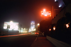never sleep (film) (Art by 2wenty) Tags: 2wenty chateaumarmont sunsetblvd night midnight mood moody fog leica cl elmairt 24mm 28 asph film analog analogue nortisuls600 selfdeveloped jobo