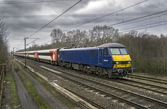 90034 (Geoff Griffiths Doncaster) Tags: 90034 db cargo class 90 rossington doncaster 1n16 virgin east coast