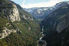 Merced River Canyon (San Francisco Gal) Tags: yosemitenationalpark yosemite mercedrivercanyon mercedriver bridalveilfalls canyon river mountain waterfall granite