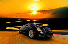 Cadillac XTS Limousine 2013 (@Britney Beyonce) Tags: automobile auto car worldcars americancar cadillac limousine photoshop hdr forza6 prairie pixabay