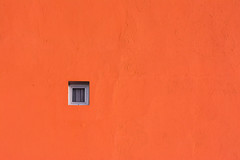 Little window in a orange wall (Jan van der Wolf) Tags: map 16862vv wall muur gevel facade orange window raam minimalism arinaga grancanaria
