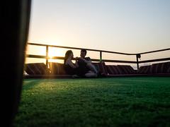 Love By The Sun (josefang) Tags: dhow sun love couple doha qatar