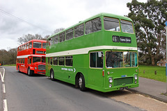 Green meets red (keith-v) Tags: southern vectis nbc leaf green liveried bristol vr osf 307g meets hants dorset poppy red lodekka kru 224f otterbourne