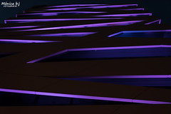 Building lights at night (Mónicabjarjurado) Tags: arquitectura edificio building lights luces noche nocturno night mónicabéjar color morado colours diferente