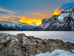 Lake Minnewanka Sunrise, Banff National Park (rskura) Tags: banffnationalpark lakeminnewanka justpentax sunrise 645z canadianrockies mediumformat landscape nature beauty
