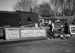 The Boatman (nigelboulton72) Tags: canal narrowboat barge boatman dock vintage mono blackandwhite