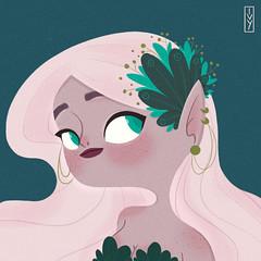Fairy <3 (Ivy Nunes) Tags: fairy fairytale dessin desenho arte art contodefadas fada fantasia illustration ilustração illustrazione illustrator ilustra girl cute cutie love