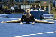 DU Gymnastics - Kaitlyn Schou (brittanyevansphoto) Tags: collegegymnastics ncaagymnastics denvergymnastics floorexercise split straddle middlesplits