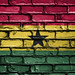 National Flag of Ghana on a Brick Wall