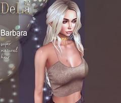 "=DeLa*= new hair ""Barbara"" (=DeLa*=) Tags: dela hair fitted rigged mesh materials sl slhair secondlife secondlifefashion style new"