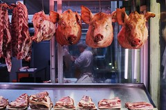 The three little Pigs (stromin.alex) Tags: explore documentary photojournalism market meat life streetphotography street athens