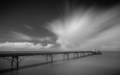 Clevedon (darrenjames.photography) Tags: clevedon pier infrared black white long exposure somerset seascape nikon d90