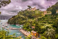 Portofino Vision (vanceezachary) Tags: castle coastline portofino twightlight cloudy vernazza port italy cinqueterre gren moneresso harbor