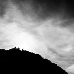 People on the hill - Howth, Ireland - Black and white street photography thumbnail