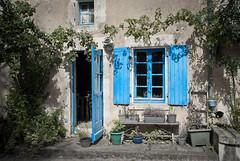 Frankreich-20090902-DSC_2382.jpg (coolmpr) Tags: weinstock lemazeau tür fensterladen restaurant
