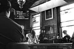 Tempest Bar - San Francisco, CA (Rex Mandel) Tags: bar divebar sanfrancisco sf blackandwhite bw southofmarket soma playingpool monochrome focused game pool intenselook focus