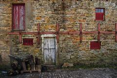braced (lowooley.) Tags: carrshield northpennines barn doors red white blackcleughfarm explored