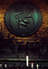 Blackened through soot (teamnullvier) Tags: kevelaer street candle religion wall kerze wallfahrtsort rus pilgrimage