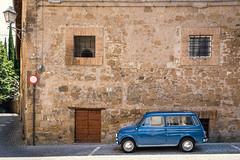 Curbside (Scriblerus) Tags: bluecar orvieto umbria italy building