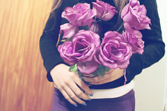 (Mandy Versailles) Tags: flowers roses love girl rose purple rosa nails romantic