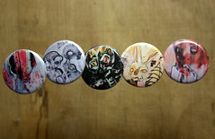 Button Series #2 (Rebel He(art)) Tags: abstract art oregon portland surrealism painted objects expressionist devil creatures opticalillusion consciousness davey cadaver indescribable productphotography hauntingly hellingphotography
