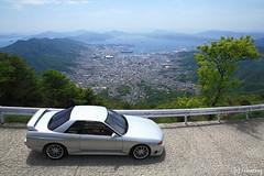 Mt. Haigamine (tomosang R32m) Tags: panorama japan skyline nissan hiroshima r32 kure    haigamine    mthaigamine