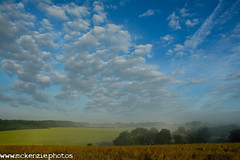 blue sky over the valley (The Urban Adventure) Tags: sky sun mist fog clouds sunrise countryside kent nikon sigma lowepro northdownsway 10mm sunrising shepherdswell d7100