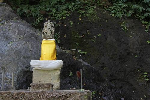Padmasana at the foot of Gitgit Waterfall
