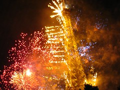 Fireworks in Paris Eiffel Tower