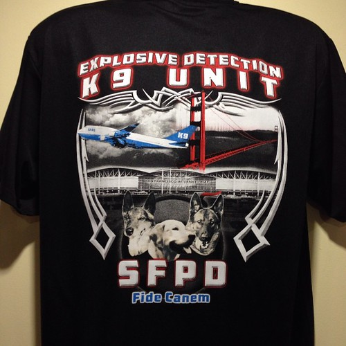 New shirt for the SFPD K-9 unit.