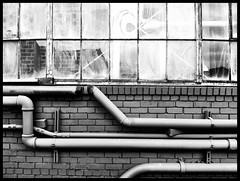 pipes (eb78) Tags: sf sanfrancisco california ca blackandwhite bw monochrome industrial grayscale dogpatch greyscale iphone pier70 iphoneography