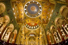 Cathedral Basilica (velo_city) Tags: art church architecture design catholic cathedral mosaic basilica religion stlouis fisheye tiles saintlouis 2014