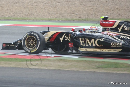 Pastor Maldonado during The 2014 British Grand Prix