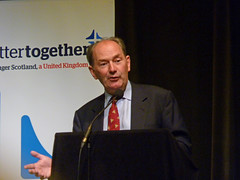 Michael Forsyth speaking at Better Together event in Stirling, July 2014 (Scottish Political Archive) Tags: scotland martin no stirling event referendum forsyth bettertogether alberthalls 2014referendum