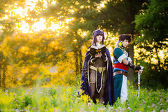 Tharja and Lon'qu by Mango Sirene and Haep Cosplay Colossalcon 2014 Fire Emblem Awakening Cosplay (WhiteDesertSun) Tags: sunset field emblem fire golden costume pretty awakening cosplay best hour mango convention shit anthony nina ever con fea catalyst sirene 2014 desu so colossalcon haep tharja lonqu