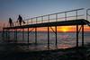 Adventurers (channel one) Tags: sunset sea dark fun evening digilux2 jetty games calm snorkeling digilux