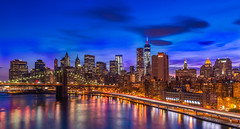 City At Dusk (kirit prajapati photography) Tags: sunset sky newyork water downtown worldtradecenter dream we brooklynbridge hudsonriver wtc bigapple fdrdrive standingtall downtownnewyork brooklynny downtownny weehawkennj bluehours goldenhours weneverforget bestskyline bestskylineinworld