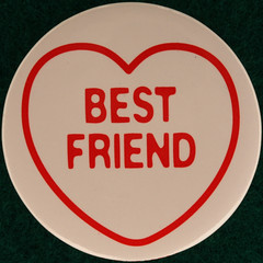BEST FRIEND (Leo Reynolds) Tags: xleol30x squaredcircle badge button pin loveheart love heart ♥ sqset109 groupbadges grouppins groupbuttons canon eos 40d xx2014xx sqset
